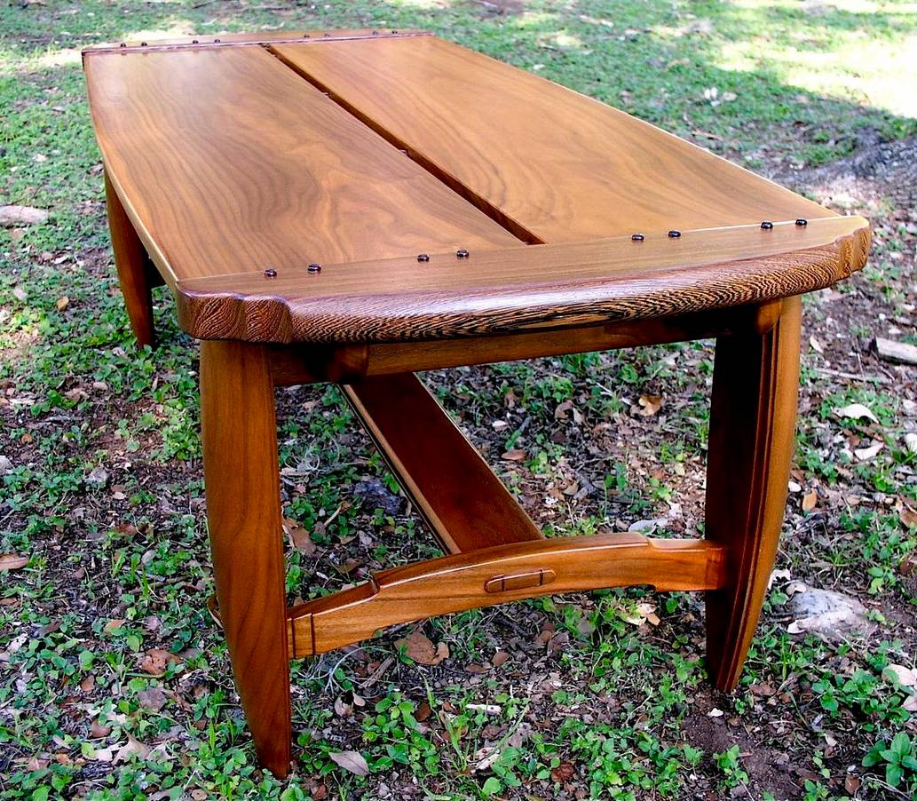 Custom Handmade Craftsman Style Coffee Table In Walnut