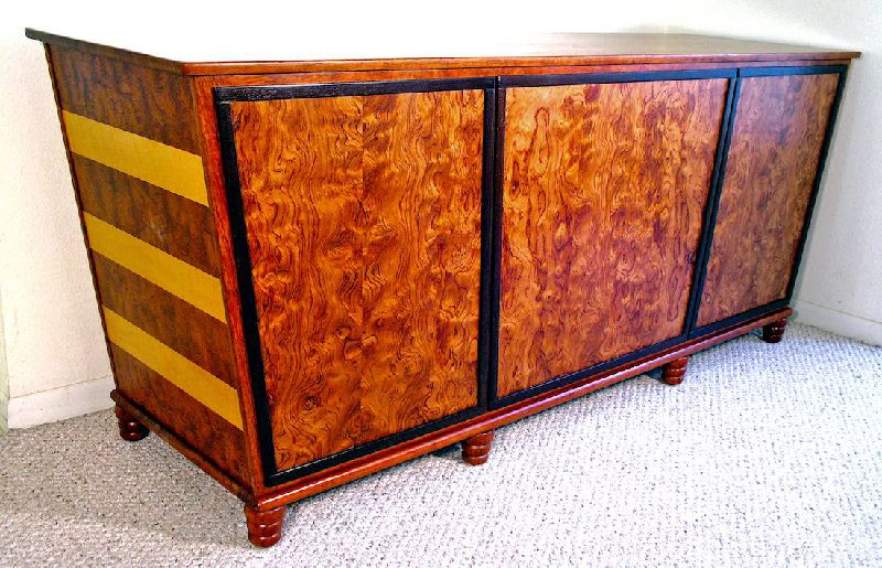 Custom Handmade Deco Style Sideboard Buffet