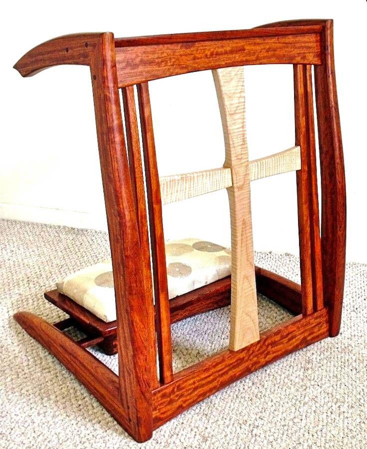 Custom Handmade Prayer Kneeler Prei Dieu In Bubinga