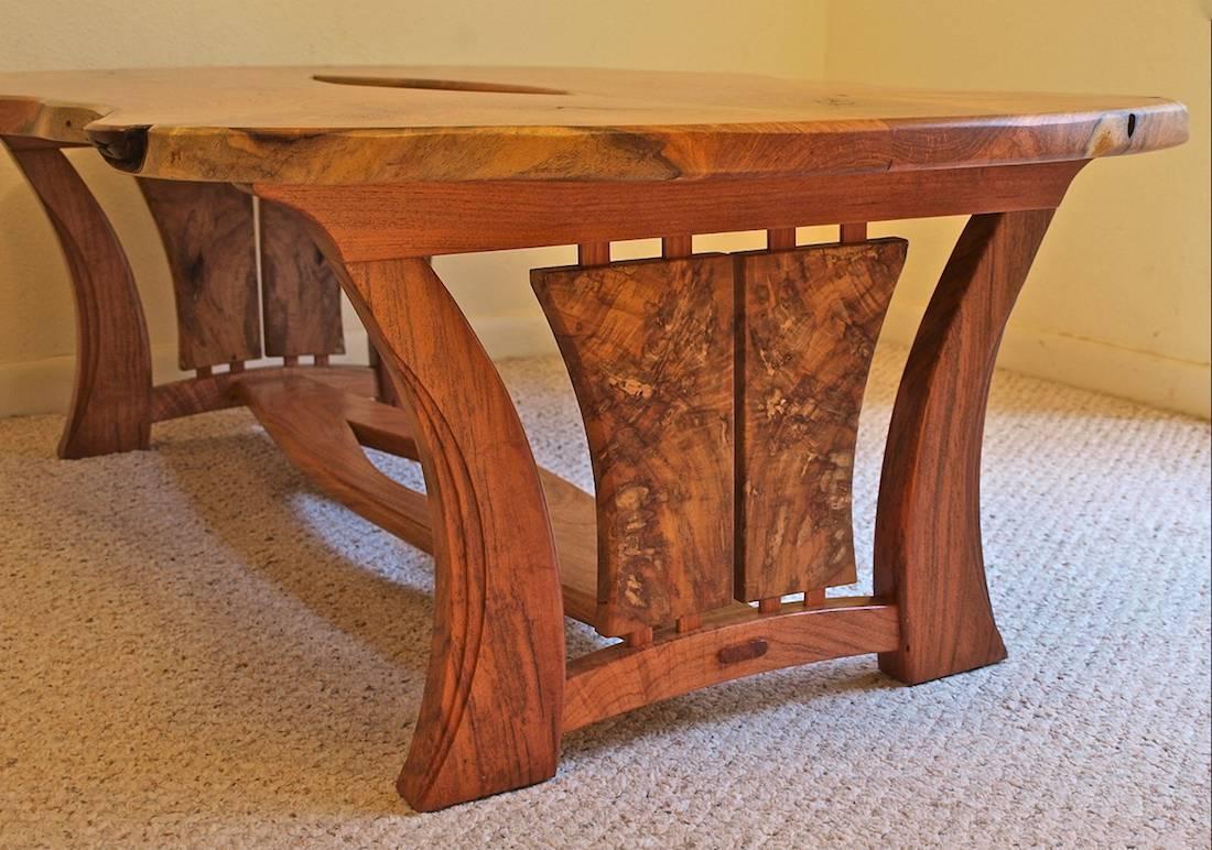 Custom Handmade Live Edge Mesquite Pecan Coffee Table