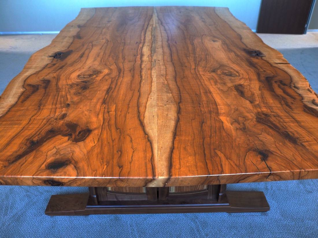 Custom Handmade Live Edge Conference Table In Texas Pecan