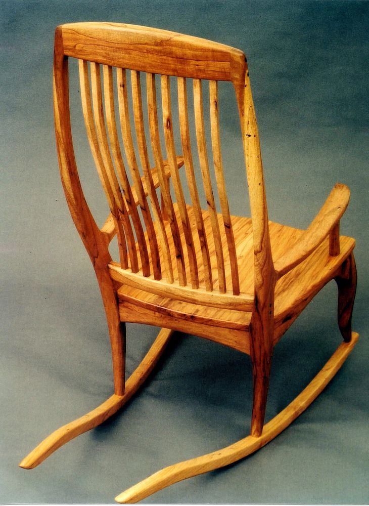 walnut made from by pin chair dowels rocking orsay cherry black craftsman david master with sculptured handmade