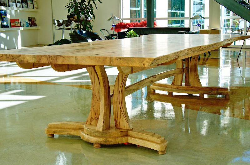 Custom Handmade Live Edge Texas Pecan Conference Table