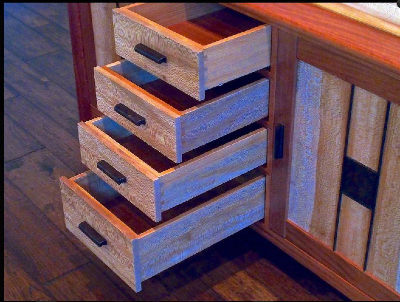 Custom Handmade High End Sideboard In Solid Wood