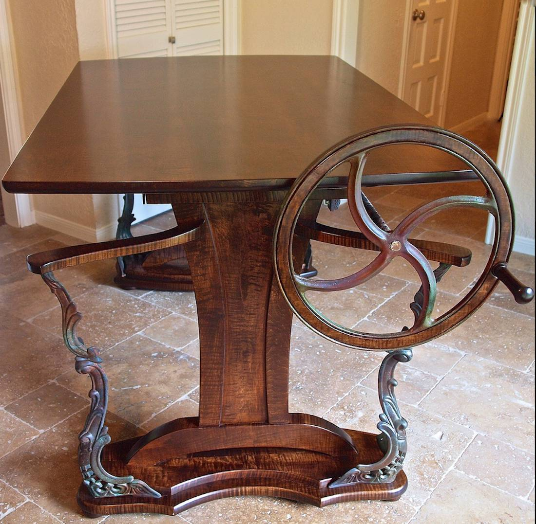Custom Handmade Steampunk Style Drafting Table
